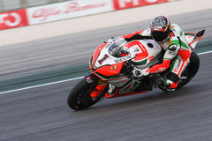 Max Biaggi Aprilia Alitalia RSV4 1000 royalty free stock photo