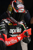 Max Biaggi Aprilia RSV4 Aprilia Racing Team Royalty Free Stock Images