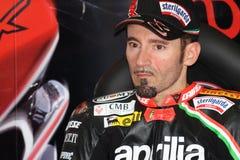 Max Biaggi Aprilia RSV4 Aprilia Racing Team Royalty Free Stock Image