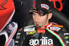 Max Biaggi Aprilia RSV4 Aprilia Racing Team stock photo