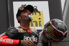Max Biaggi Aprilia RSV4 Aprilia Racing Team stock photos