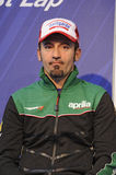 Max biaggi at a press conference Stock Photo