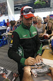 Max biaggi signs aotographs for fans Stock Photo