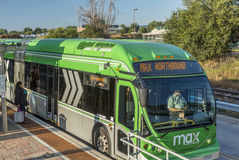 MAX Bus Rapid Transit Royalty Free Stock Photos