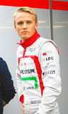 Max Chilton. F1 Marussia team sportsman. Royalty Free Stock Images