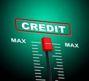 Max Credit Means Debit Card y tarjeta de banco Fotografía de archivo libre de regalías