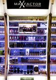 Max Factor make up shelf Stock Images