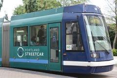 MAX Light Rail Streetcar em Portland, Oregon imagem de stock