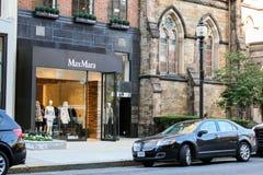 Max Mara, Newbury Street, Boston, MA. Stock Image