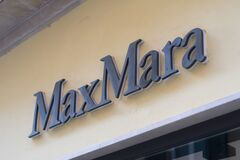 The Max Mara sign at the entrance to a chain store