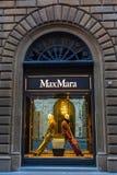 Max Mara sklep w centrum miasta Florencja, Włochy Obraz Stock