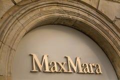 Max Mara store Royalty Free Stock Image