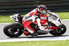 Max Neukirchner #27 på den Ducati Panigale R Herr-Racing superbiken 1199 WSBK Arkivbild