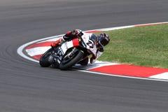 Max Neukirchner #27 sur le Superbike 1199 de M.-emballage de Ducati Panigale R WSBK Photographie stock