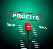 Max Profits Indicates Upper Limit And Ceiling Stock Photos