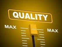 Max Quality Indicates Approval Ceiling und bestätigen Stockfoto