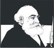 Max Simon Nordau var en sionistledare stock illustrationer