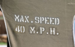 Max Speed 40 MPH Imagens de Stock