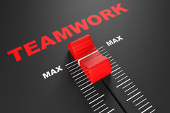 Max Teamwork Value Mixer Slider Royalty Free Stock Photography