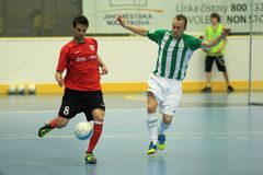 Max and Tomas Koudelka - czech futsal league Stock Image