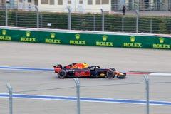 Max Verstappen of Aston Martin Red Bull Racing. Formula One. Sochi Russia. Sochi, Russia - September 30, 2018: Max Verstappen of Aston Martin Red Bull Racing F1 stock image
