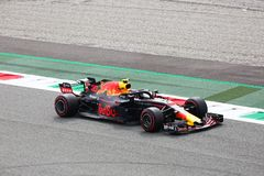 Max Verstappen driving his Red Bull in Monza 2018 stock photography