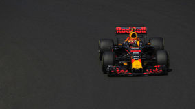 Max Verstappen on Hungaroring in F1 car Royalty Free Stock Photography