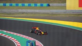 Max Verstappen on Hungaroring in F1 car Stock Images