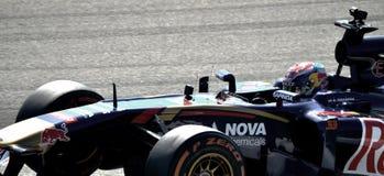 Max Verstappen met zijn Torro Rosso Royalty-vrije Stock Afbeelding