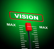 Max Vision Shows Upper Limit And Ceiling Royalty Free Stock Photos