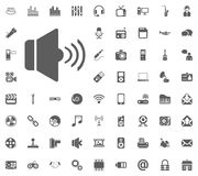 Max volume icon. Media, Music and Communication vector illustration icon set. Set of universal icons. Set of 64 icons.  Stock Photo