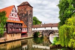Free Maxbrucke Bridge In Nuremberg Royalty Free Stock Photos - 71927688