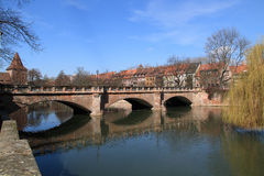 Maxbruecke Nuremberg Royalty Free Stock Photos