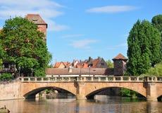 Maxbruecke w Nuremberg zdjęcia royalty free