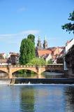 Maxbruecke w Nuremberg zdjęcie royalty free