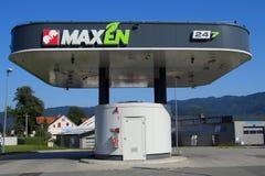 Maxen 24/7 di stazione di servizio di self service Fotografia Stock