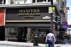 Maxferd-Schmuck das längste ununterbrochen Laufpfandhaus in Amerika, 2 stockbilder