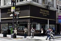 Maxferd-Schmuck das längste ununterbrochen Laufpfandhaus in Amerika, 1 stockbilder