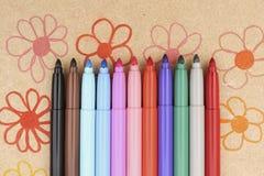 Maxi feutre multicolore Images libres de droits
