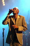 Maxi Jazz from Faithless band sings during Vibe festival Stock Photography