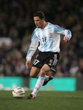 Maxi Rodriguez. Argentinian player Maxi Rodriguez in action during the friendly match between Catalonia and Argentina at Nou Camp Stadium December 29, 2004 in Royalty Free Stock Photos