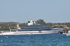 Maxi yacht in costa smeralda sardinia Stock Image