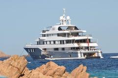 Maxi yacht in costa smeralda sardinia Stock Photo