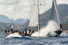 Maxi Yacht Rolex Cup 2015 sail boat race in Porto Cervo, Italy Stock Photography