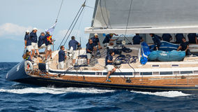 Maxi Yacht Rolex Cup 2015 sail boat race in Porto Cervo, Italy Royalty Free Stock Photography