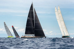 Maxi Yacht Rolex Cup 2015 sail boat race in Porto Cervo, Italy Stock Photos
