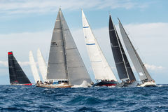 Maxi Yacht Rolex Cup 2015 sail boat race in Porto Cervo, Italy Stock Photo
