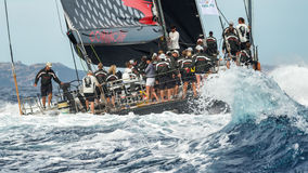 Maxi Yacht Rolex Cup sail boat race. Royalty Free Stock Photos