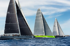 Maxi Yacht Rolex Cup sail boat race. Stock Images