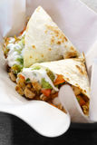 Maxican food chicken Quesadilla Royalty Free Stock Image